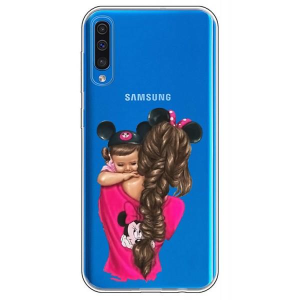 Husa Silicon Soft Upzz Print Samsung Galaxy A50 Model Mom4 imagine itelmobile.ro 2021