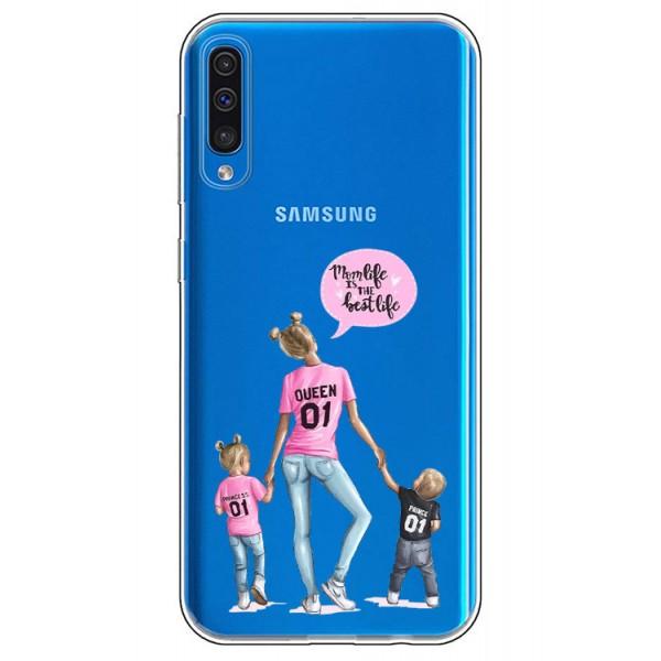 Husa Silicon Soft Upzz Print Samsung Galaxy A50 Model Mom5 imagine itelmobile.ro 2021