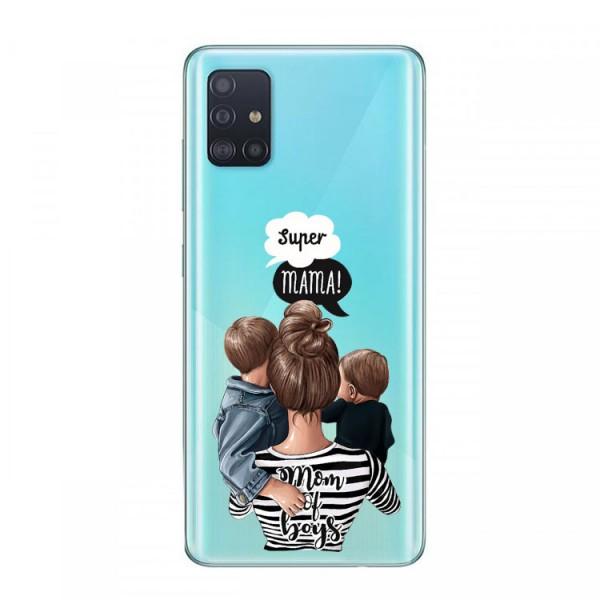 Husa Silicon Soft Upzz Print Samsung Galaxy A51 Model Mom2 imagine itelmobile.ro 2021