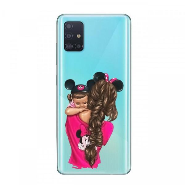 Husa Silicon Soft Upzz Print Samsung Galaxy A51 Model Mom4 imagine itelmobile.ro 2021