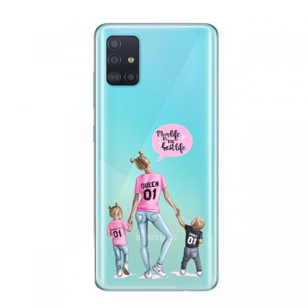 Husa Silicon Soft Upzz Print Samsung Galaxy A51 Model Mom5 imagine itelmobile.ro 2021