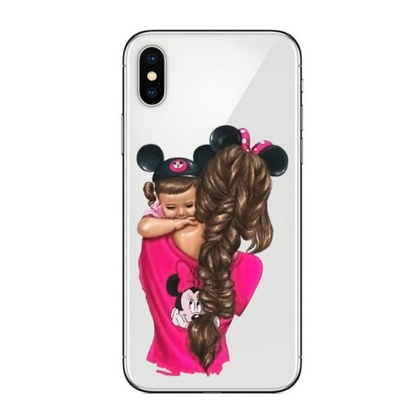 Husa Silicon Soft Upzz Print iPhone X / Xs Model Mom4 imagine itelmobile.ro 2021