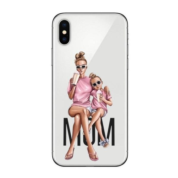 Husa Silicon Soft Upzz Print iPhone Xs Max Model Mom1 imagine itelmobile.ro 2021