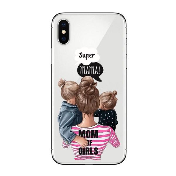 Husa Silicon Soft Upzz Print iPhone Xs Max Model Mom3 imagine itelmobile.ro 2021