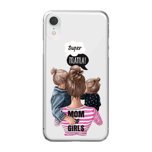 Husa Silicon Soft Upzz Print iPhone Xr Model Mom3 imagine itelmobile.ro 2021
