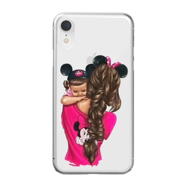 Husa Silicon Soft Upzz Print iPhone Xr Model Mom4 imagine itelmobile.ro 2021