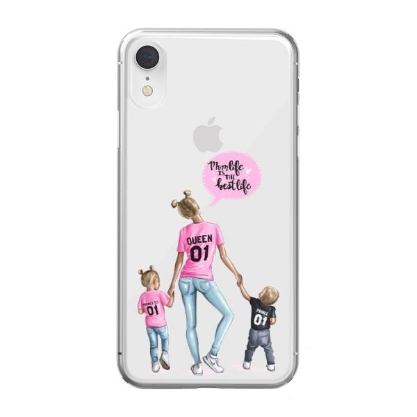 Husa Silicon Soft Upzz Print iPhone Xr Model Mom5 imagine itelmobile.ro 2021