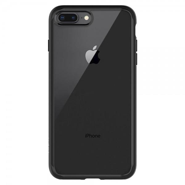 Husa Premium Originala Spigen Ultra Hybrid iPhone 7 Plus / 8 Plus Transparenta Cu Margine Neagra imagine itelmobile.ro 2021