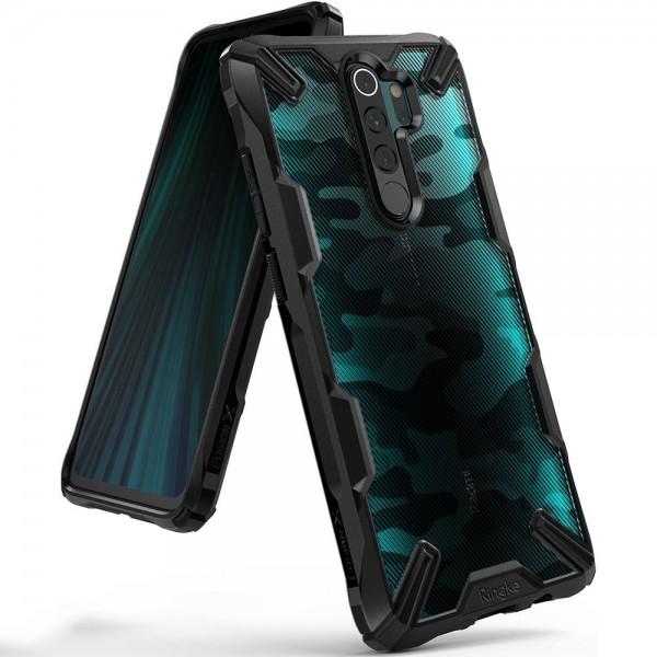 Husa Premium Ringke Fusion X Compatibila Cu Xiaomi Redmi Note 8 Pro ,camo imagine itelmobile.ro 2021