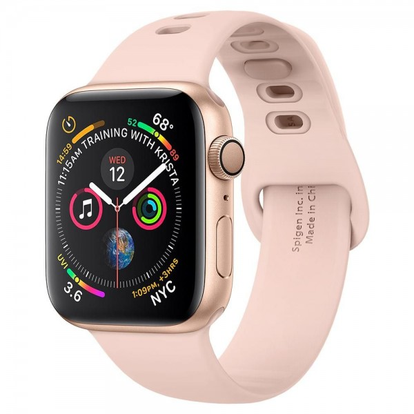Curea Premium Spigen Air Fit Band Apple Watch 1/2/3/4/5/6/se 40/44mm Rose Gold imagine itelmobile.ro 2021