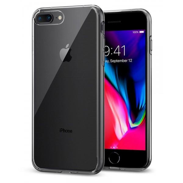 Husa Spigen Liquid Crystal iPhone 7 Plus / 8 Plus Transparenta ,silicon imagine itelmobile.ro 2021