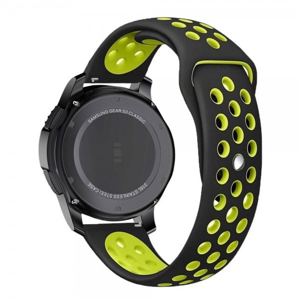 Curea Ceas Upzz Tech Softband Compatibila Cu Samsung Galaxy Watch 46mm , Silicon ,negru-verde imagine itelmobile.ro 2021