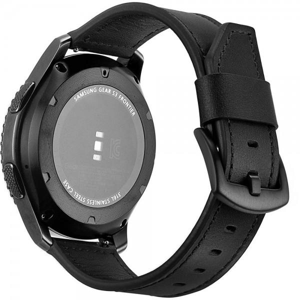 Curea Ceas Upzz Tech Herms Compatibila Cu Samsung Galaxy Watch 46mm , Piele Ecologica ,negru imagine itelmobile.ro 2021