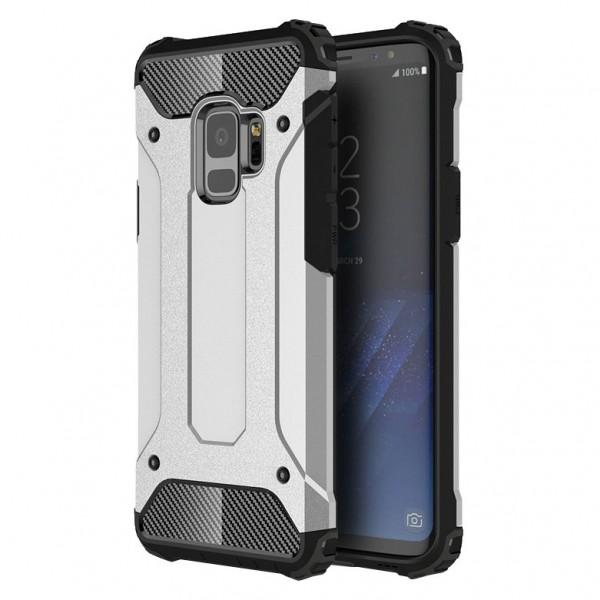 Husa Spate Ultra Rezistenta Anti Shock Upzz Armor Compatibila Cu Samsung Galaxy S9 ,silver imagine itelmobile.ro 2021