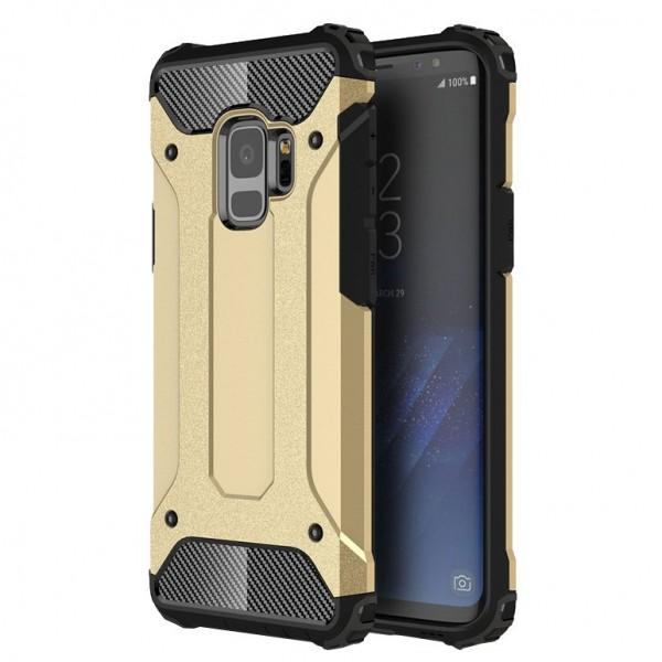 Husa Spate Ultra Rezistenta Anti Shock Upzz Armor Compatibila Cu Samsung Galaxy S9 ,gold imagine itelmobile.ro 2021