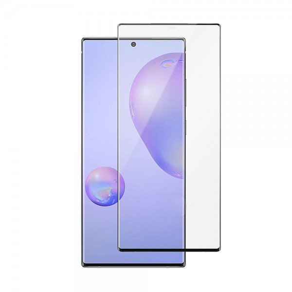 Folie Full Cover Nano Glass Flexible Bestsuit Samsung Galaxy Note 10 ,transparenta Cu Margine Neagra -merge Amprenta imagine itelmobile.ro 2021