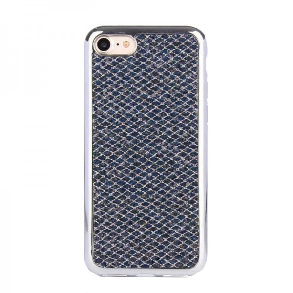Husa Lux Fashion Glitter iPhone 5s/se Silver Black imagine itelmobile.ro 2021