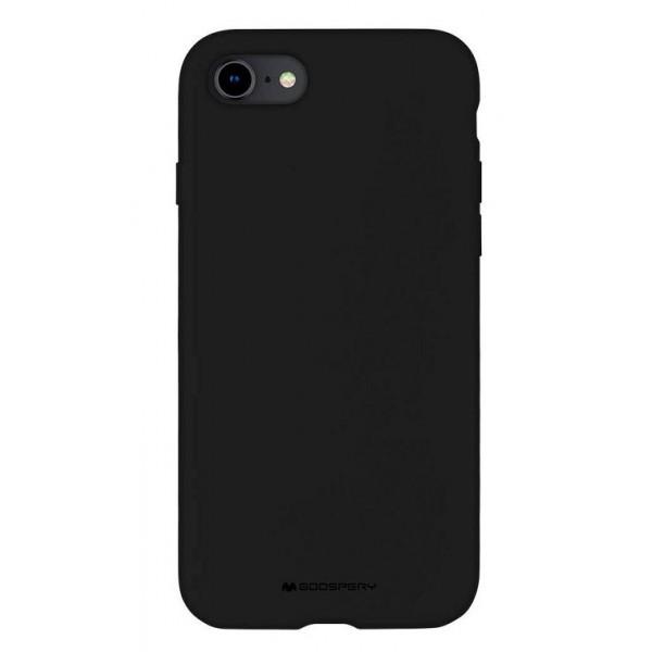 Husa Spate Mercury Silicone iPhone Se 2 ( 2020 ) ,cu Interior Alcantara ,negru imagine itelmobile.ro 2021
