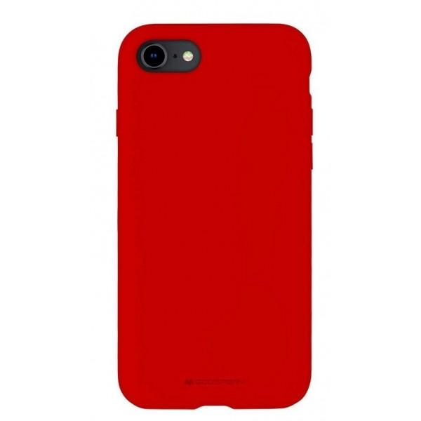 Husa Spate Mercury Silicone iPhone Se 2 ( 2020 ) ,cu Interior Alcantara ,rosu imagine itelmobile.ro 2021