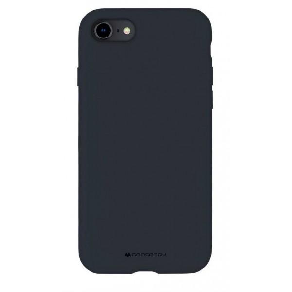 Husa Spate Mercury Silicone iPhone Se 2 ( 2020 ) ,cu Interior Alcantara ,navy Albastru imagine itelmobile.ro 2021