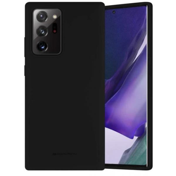 Husa Spate Mercury Silicone Samsung Galaxy Note 20 ,cu Interior Alcantara ,negru imagine itelmobile.ro 2021