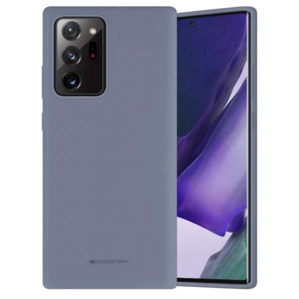 Husa Spate Mercury Silicone Samsung Galaxy Note 20 ,cu Interior Alcantara ,navy Lavander Gri imagine itelmobile.ro 2021