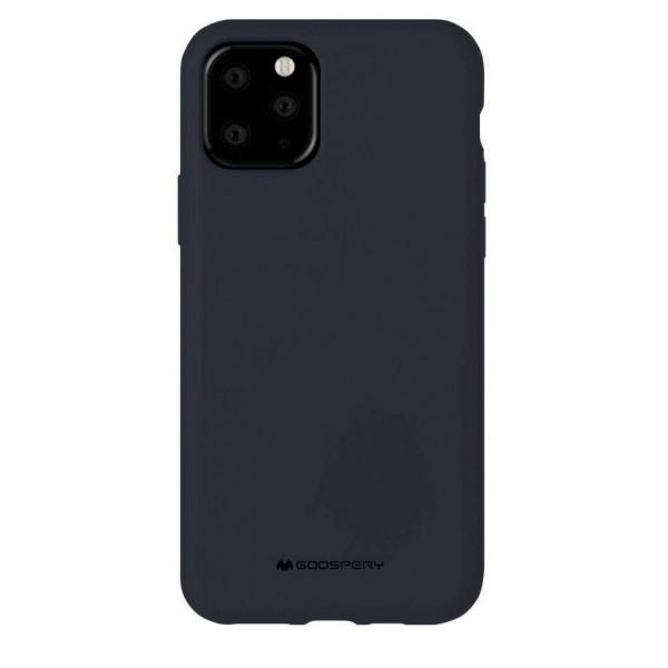 Husa Spate Mercury Silicone iPhone 11 Pro ,cu Interior Alcantara ,navy Albastru imagine itelmobile.ro 2021