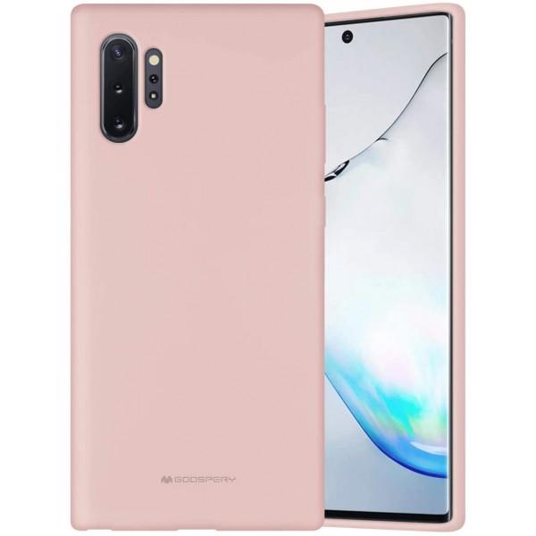 Husa Spate Mercury Silicone Samsung Galaxy Note 10+ Plus ,cu Interior Alcantara ,roz Sand imagine itelmobile.ro 2021