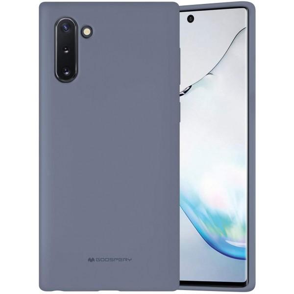 Husa Spate Mercury Silicone Samsung Galaxy Note 10 ,cu Interior Alcantara ,lavander Gri imagine itelmobile.ro 2021