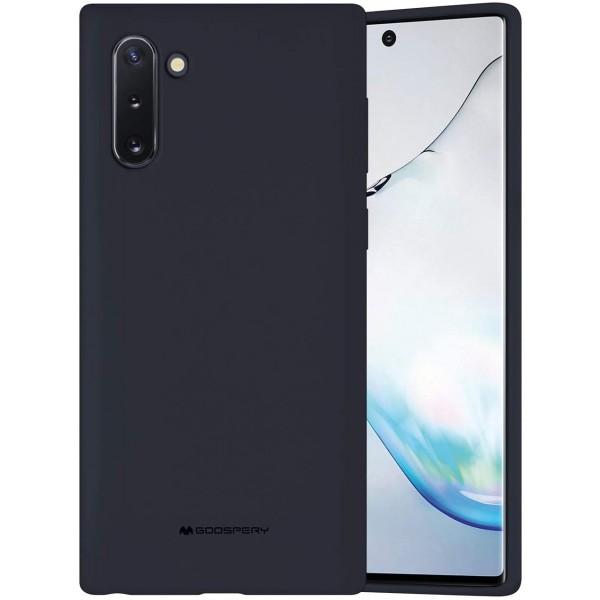Husa Spate Mercury Silicone Samsung Galaxy Note 10 ,cu Interior Alcantara ,navy Albastru imagine itelmobile.ro 2021