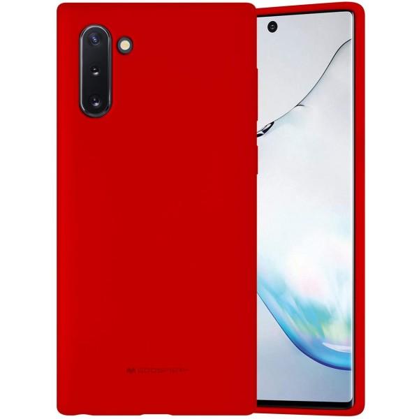 Husa Spate Mercury Silicone Samsung Galaxy Note 10 ,cu Interior Alcantara ,rosu imagine itelmobile.ro 2021