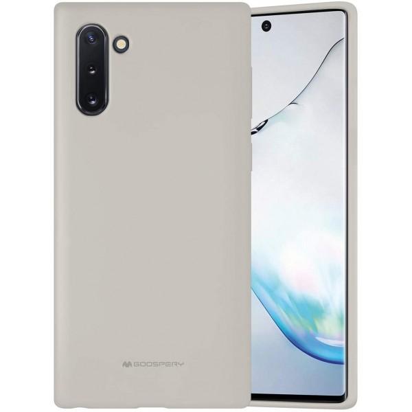 Husa Spate Mercury Silicone Samsung Galaxy Note 10 ,cu Interior Alcantara ,crem imagine itelmobile.ro 2021