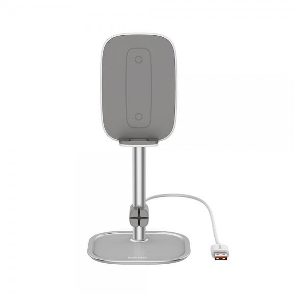 Incarcator Wireless Cu Stand De Birou Baseus Qi Charger 15w ,argintiu - Suwy-d0s imagine itelmobile.ro 2021