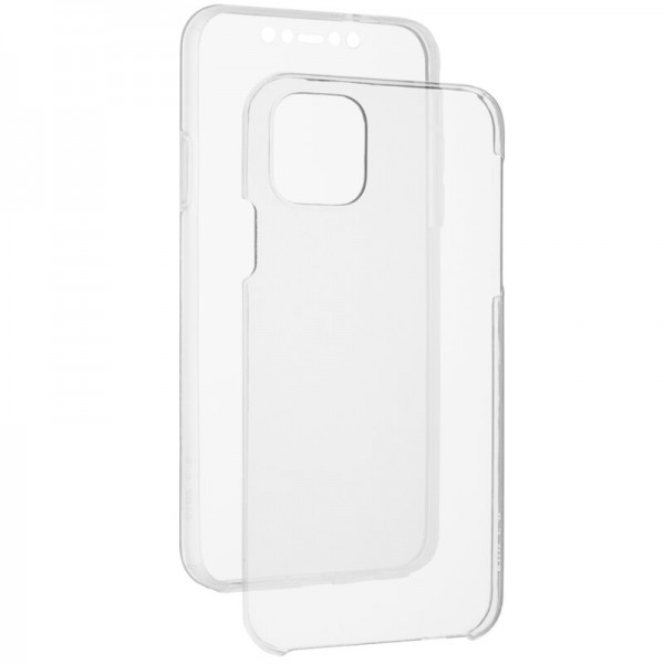 Husa 360 Grade Full Cover Upzz Case Silicon + Tpu Compatibila Cu iPhone 12 / iPhone 12 Pro , Transparenta imagine itelmobile.ro 2021