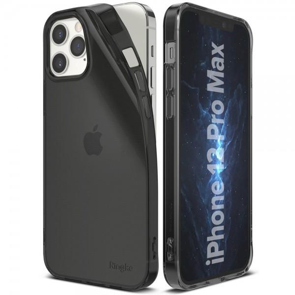 Husa Premium Ringke Air iPhone 12 Pro Max ,silicon ,slim ,fumurie imagine itelmobile.ro 2021