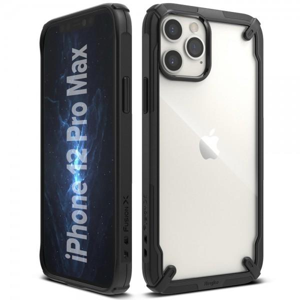 Husa Premium Ringke Fusion X Compatibila Cu iPhone 12 Pro Max ,negru imagine itelmobile.ro 2021