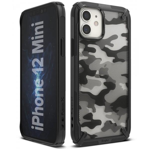 Husa Premium Ringke Fusion X Compatibila Cu iPhone 12 Mini ,camo imagine itelmobile.ro 2021