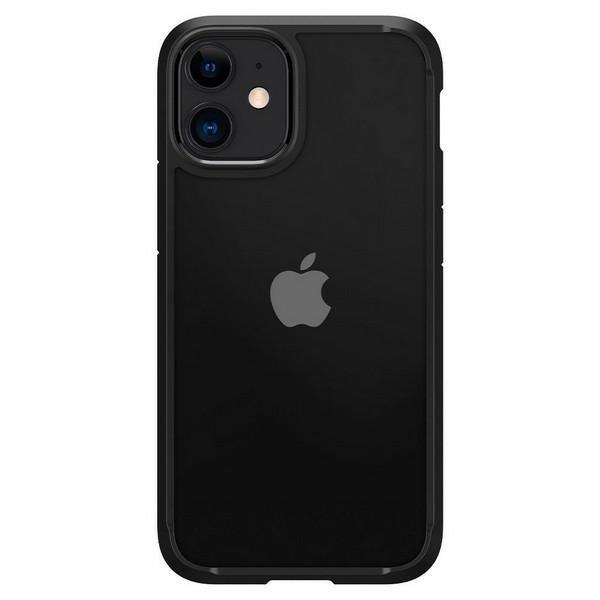 Husa Premium Spigen Ultra Hybrid iPhone 12 Mini ,negru Transparent - Acs01746 imagine itelmobile.ro 2021