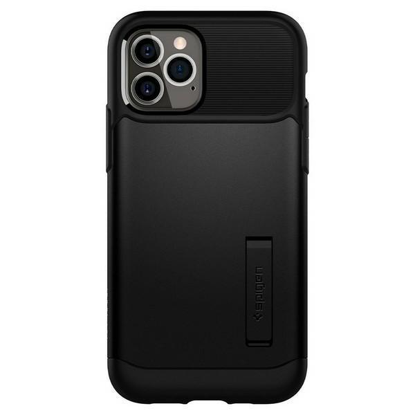 Husa Originala Premium Spigen Slim Armor iPhone 12 / iPhone 12 Pro ,negru - Acs01523 imagine itelmobile.ro 2021