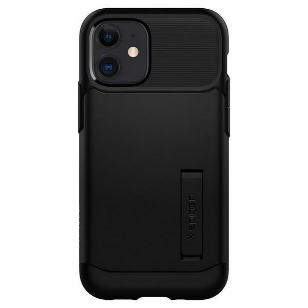 Husa Originala Premium Spigen Slim Armor iPhone 12 Mini ,negru - Acs01545 imagine itelmobile.ro 2021