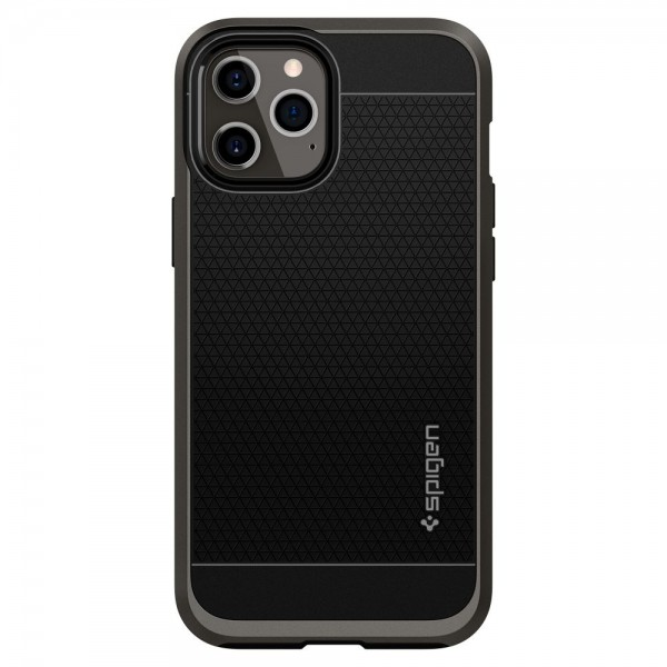 Husa Originala Premium Spigen Neo Hybrid iPhone 12 Pro Max Gunmetal - Acs01627 imagine itelmobile.ro 2021