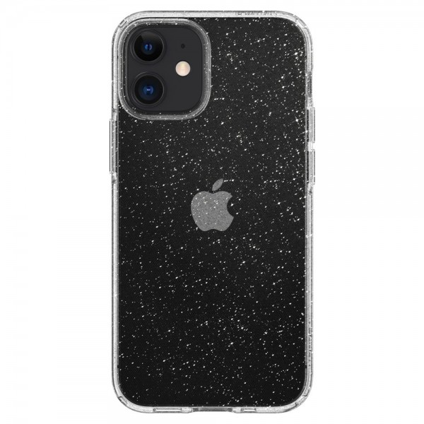 Husa Premium Spigen Liquid Crystal Glitter iPhone 12 Mini ,transparenta - Acs01741 imagine itelmobile.ro 2021