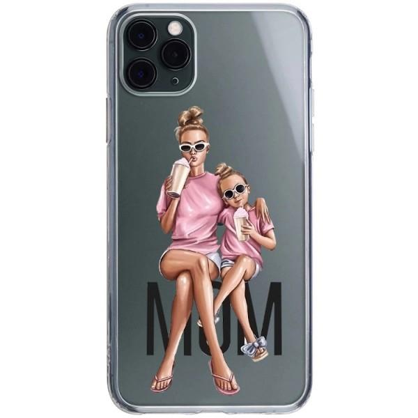 Husa Silicon Soft Upzz Print iPhone 11 Pro Max Model Mom1 imagine itelmobile.ro 2021