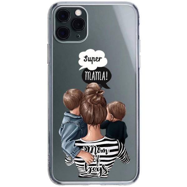 Husa Silicon Soft Upzz Print iPhone 11 Pro Max Model Mom2 imagine itelmobile.ro 2021