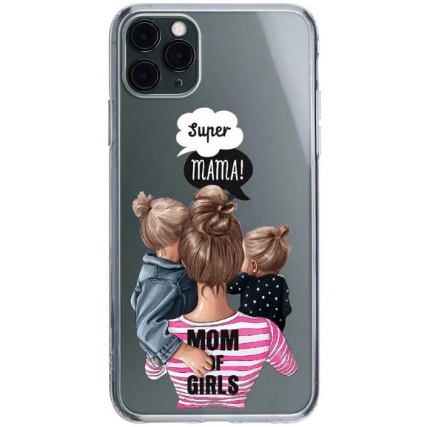 Husa Silicon Soft Upzz Print iPhone 11 Pro Max Model Mom3 imagine itelmobile.ro 2021