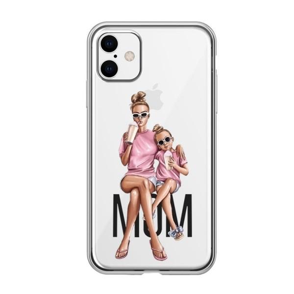 Husa Silicon Soft Upzz Print iPhone 11 Model Mom1 imagine itelmobile.ro 2021
