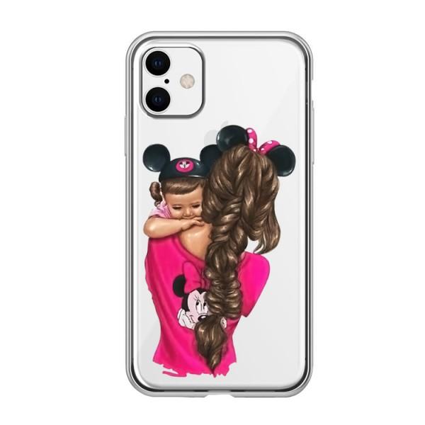 Husa Silicon Soft Upzz Print iPhone 11 Model Mom4 imagine itelmobile.ro 2021