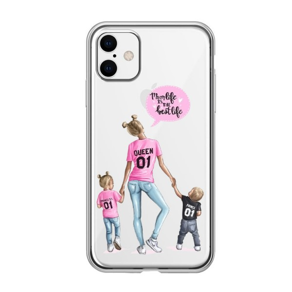 Husa Silicon Soft Upzz Print iPhone 11 Model Mom5 imagine itelmobile.ro 2021