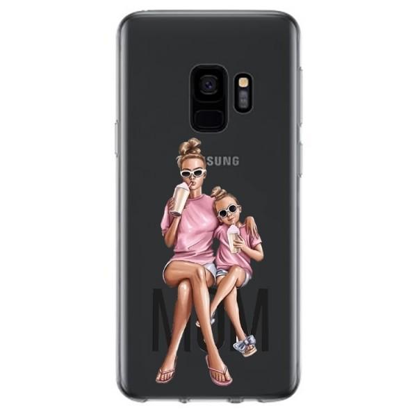 Husa Silicon Soft Upzz Print Samsung Galaxy S9 Model Mom1 imagine itelmobile.ro 2021