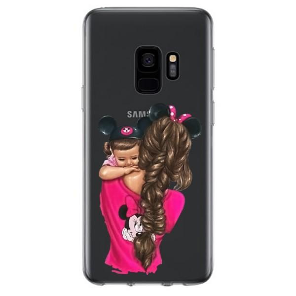 Husa Silicon Soft Upzz Print Samsung Galaxy S9 Model Mom4 imagine itelmobile.ro 2021